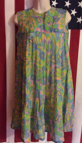 Vintage-Carol-Brent-MOD-Design-Summer-Dress-Size-8P-Psychedelic