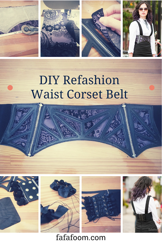 Diy Refashion Waist Corset Belt With Interchangeable Fabrics Refashion Upcycling Upcycle Diy Corset Diy Fashion Waist Corset
