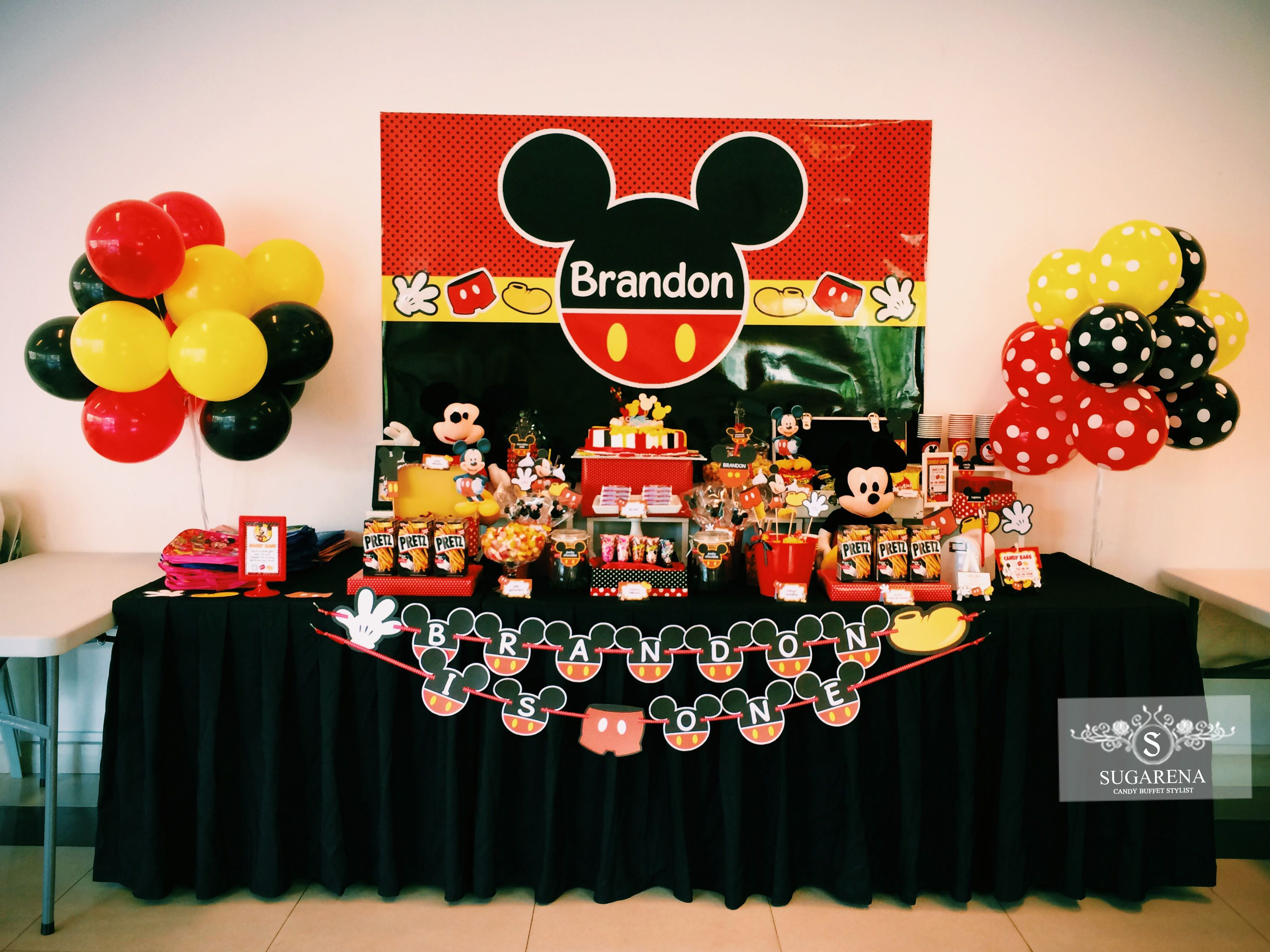 Mickey Mouse Candy Table Mickey Mouse Backdrop Mickey Mouse Parties Mickey Mouse Party Favors
