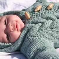 Knitting : Top Down Baby Bunting