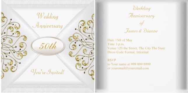 50th Wedding Anniversary Invitation Ideas: 50th Wedding Anniversary Invitations