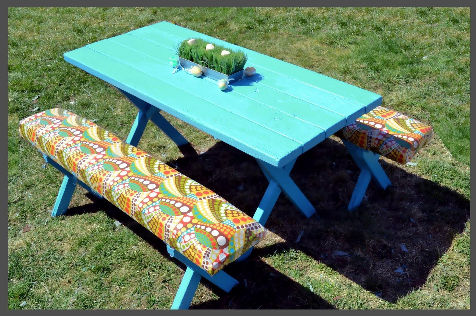 Picnic Table Makeover LOVE THIS Cheap Picnic Table At Home - Home depot kids picnic table
