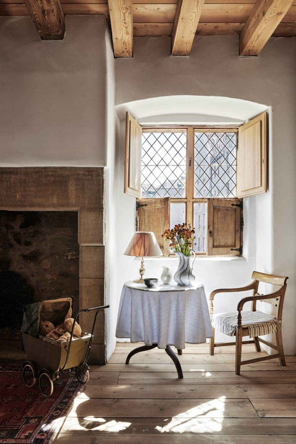 Pin By Lacey Larson On Mansion 3 Thrumpton Hall And Others In 2020 Kitchen Fireplace House Restoration Rustic House