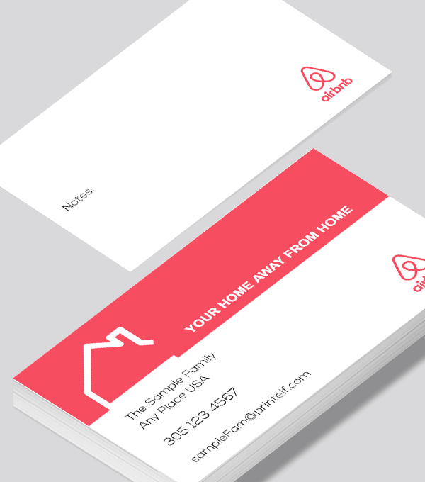 Airbnb Vacation Business Card Modern Design Modern Business Cards Design Business Card Modern Free Business Card Design