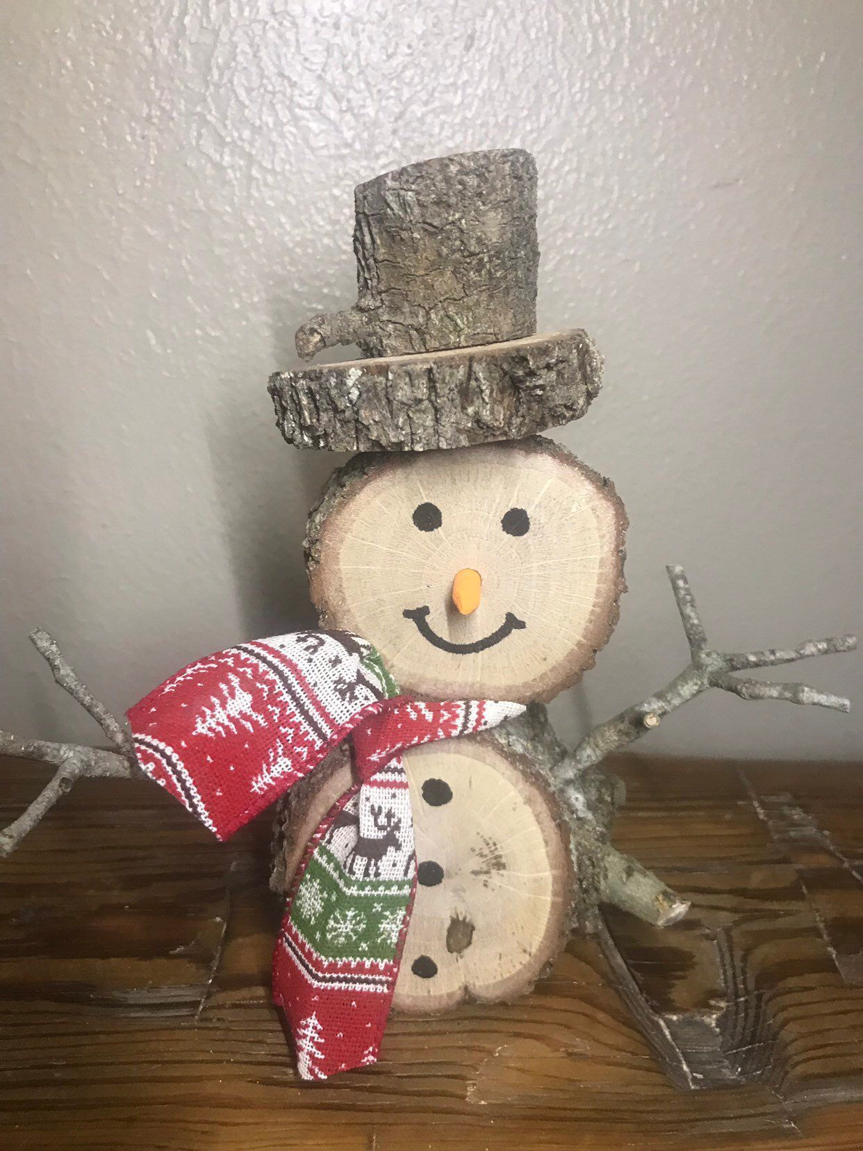 Wooden Snowmen Etsy Wooden Snowman Crafts Christmas Tree Ornaments To Make Wood Christmas Decorations