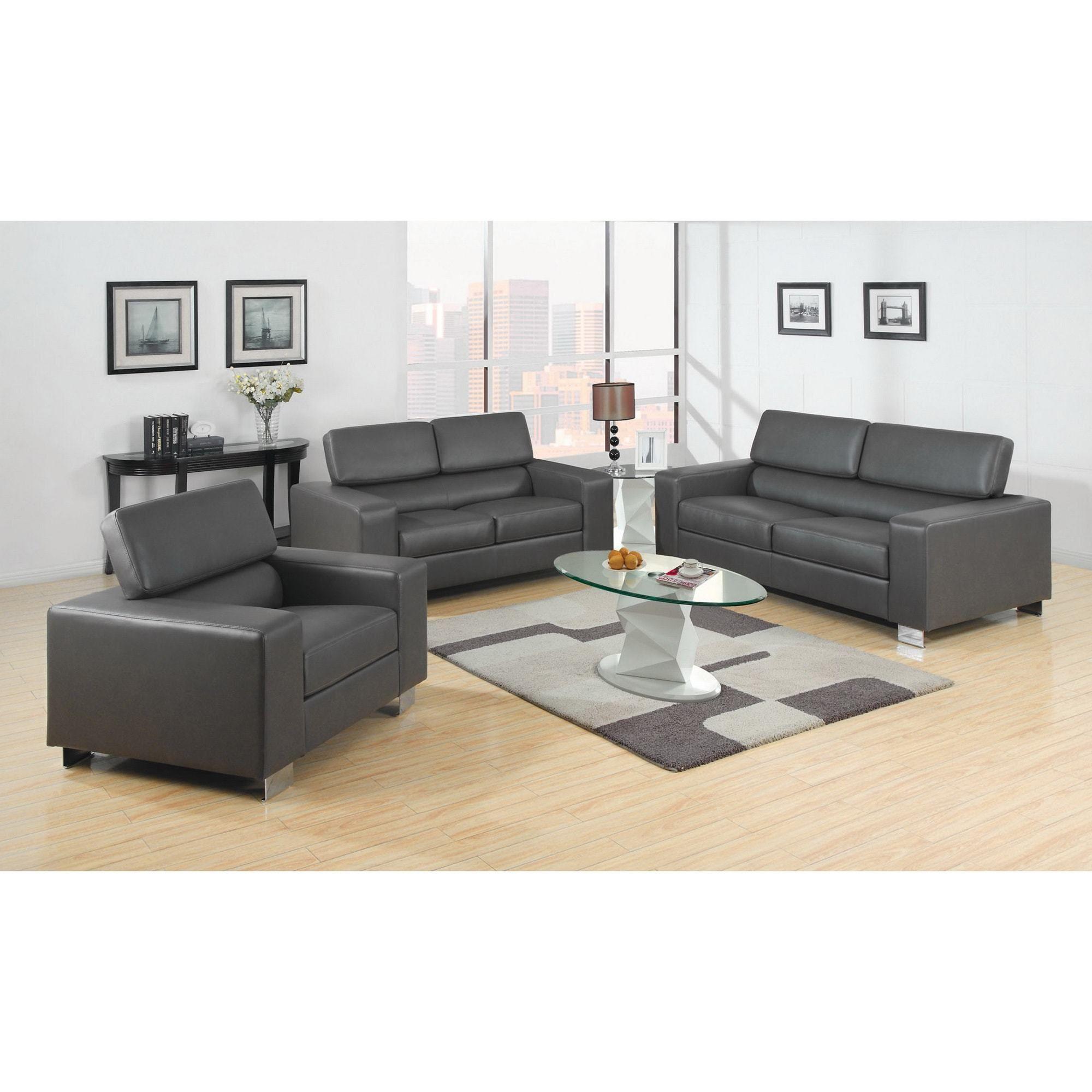 Grey Leather Sofa Sets Decorating Idea …