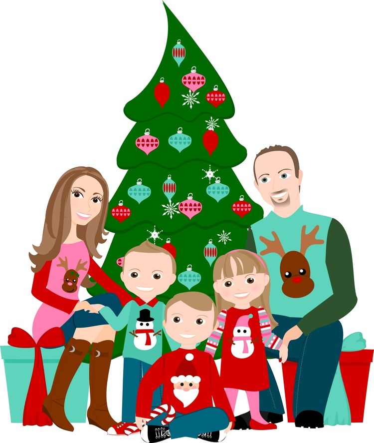 Looking For A Unique Gift Or Christmas Card This Year Custom Character Illustrations By The Shy Socialites Are Family Cartoon Family Drawing Cartoon Drawings