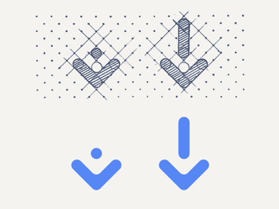 Arrow, grid, graphic