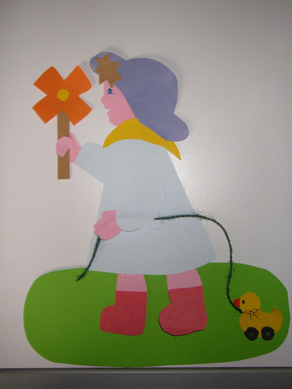 meisje met eendje herfst knutselen knutselen meisje