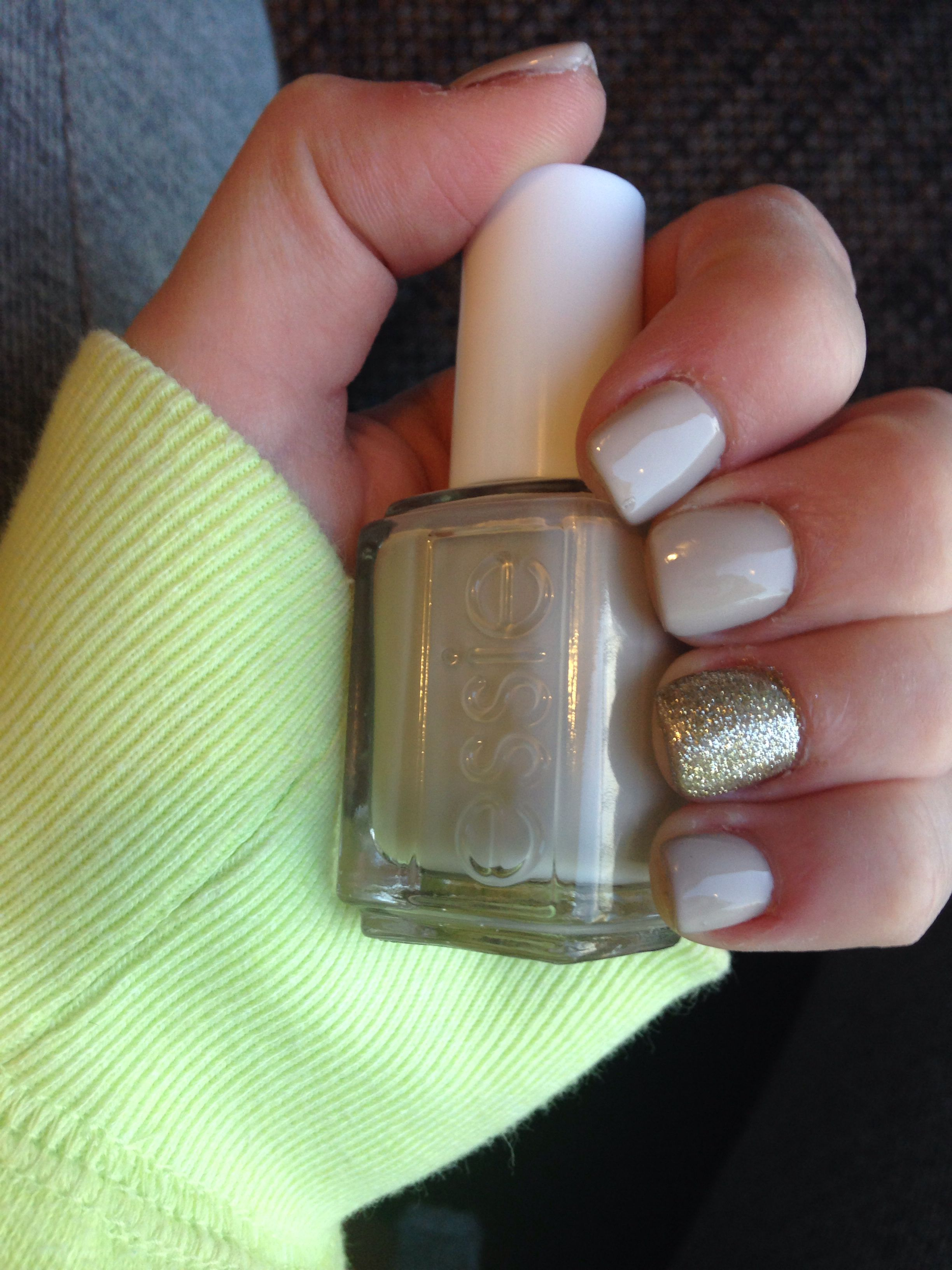 nude essie and short acrylic nails... <3 | Just Down Right Cute ...