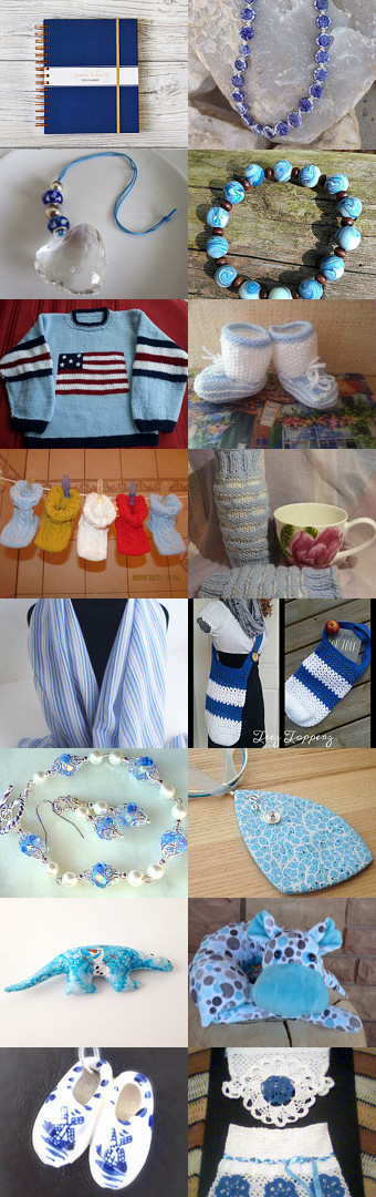 Blue and white... by Yelena and Anna on Etsy--Pinned+with+TreasuryPin.com