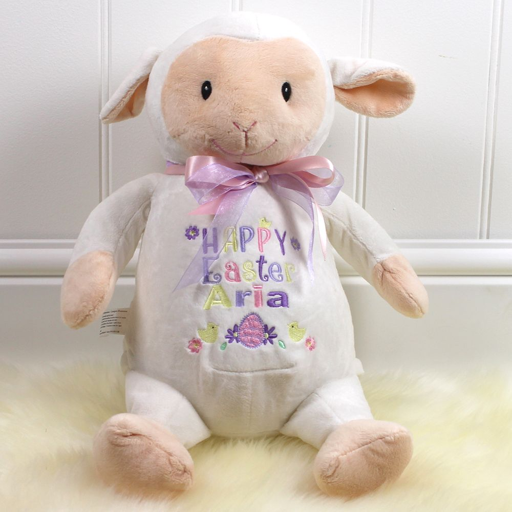 Personalised easter lamb suitable for all ages perfect gift for personalised easter lamb suitable for all ages perfect gift for babies 1st easter www negle Choice Image