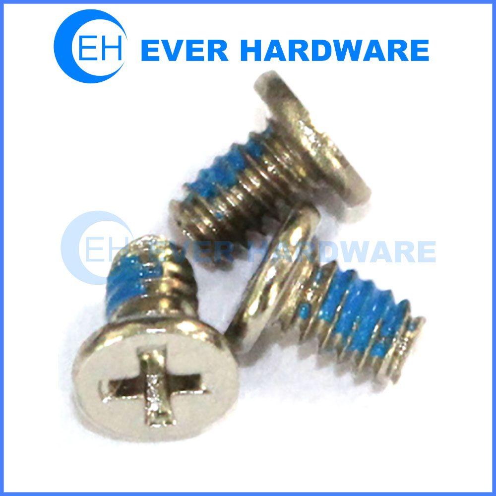 Nylok screw flat washer phillips head electronics screws