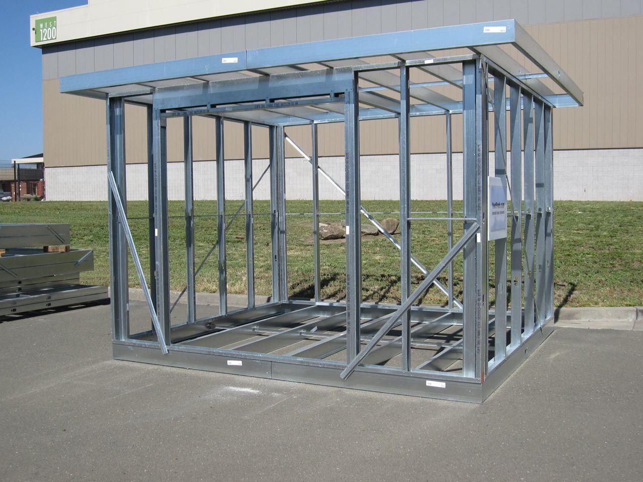 Yardpods Personal Space Delivered Steel Frame House Steel Frame Construction Steel Frame