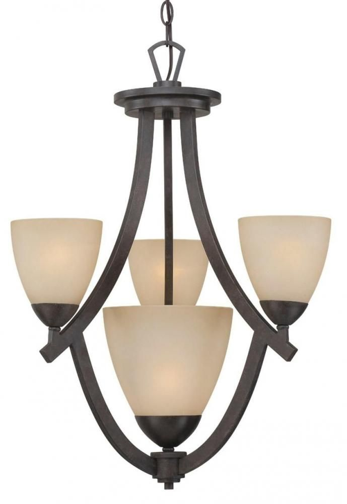 Charles 4-light Chandelier in Sable Bronze finish : 190047722 | Connecticut Lighting Centers