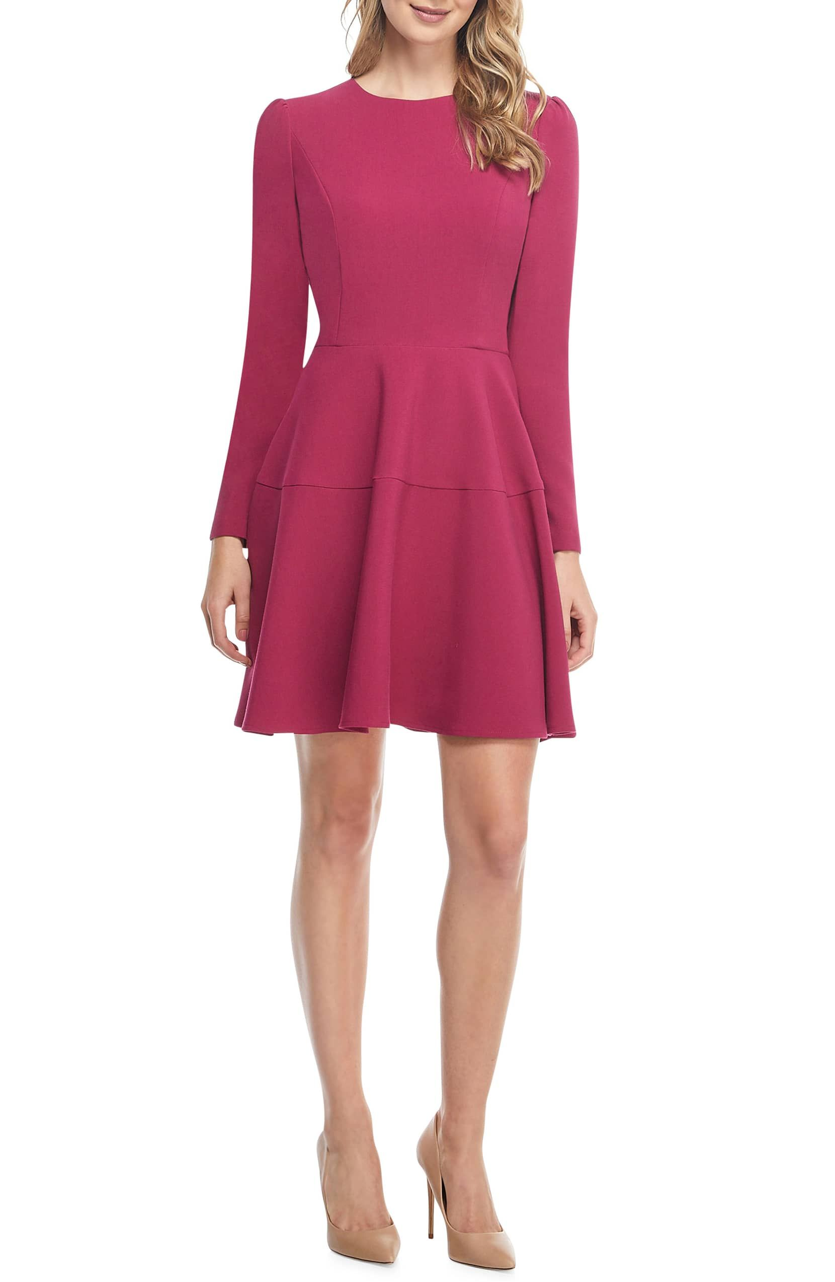 Gal Meets Glam Collection Celeste Long Sleeve Fit Flare Dress Nordstrom Fit Flare Dress Flare Dress Womens Spring Fashion Outfits [ 2546 x 1660 Pixel ]