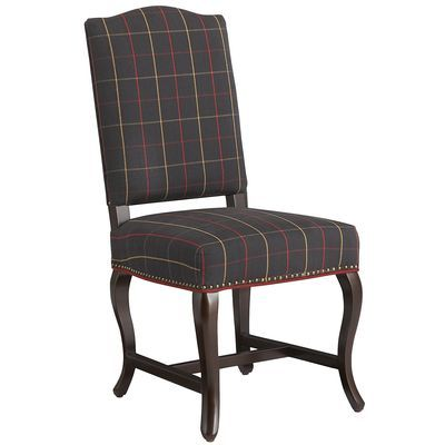 Cameron Dining Chair Blue Tartan Plaid Chair Chair Blue Tartan