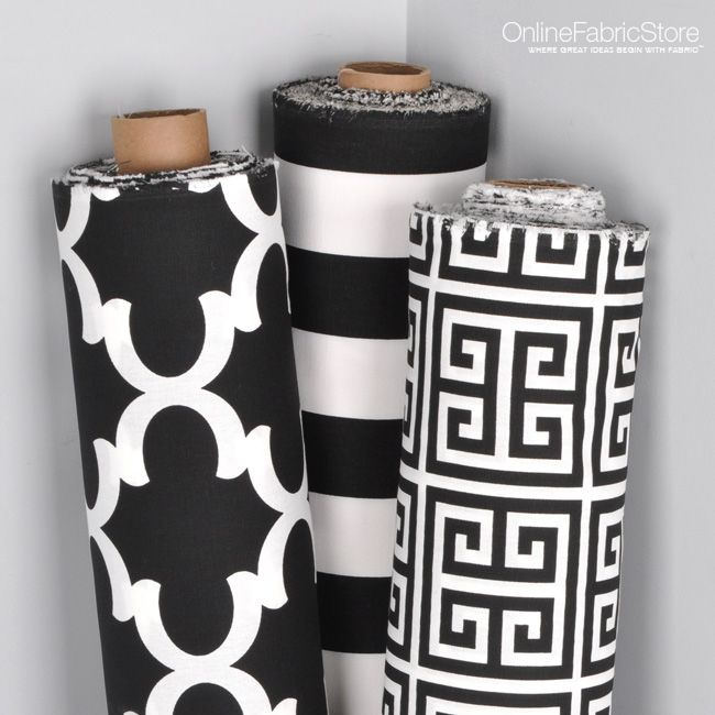 Black And White Fabric By Premier Prints From Onlinefabricstore