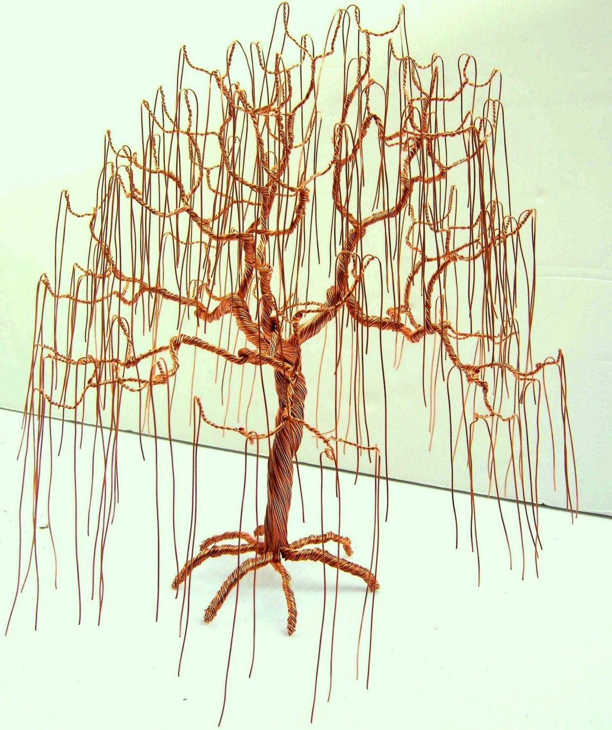 Copper Weeping Willow Wire Tree Art Sculpture by EverythingTrees ...