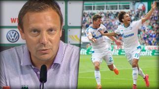 """André Breitenreiter gewinnt als Trainer des FC Schalke 04 sein erstes Ligaspiel mit 3:0 gegen Werder Bremen! Nach dem Spiel sagt er: """"Auch wenn es etwas verrückt klingt, wir haben noch viel zu tun!"""""""