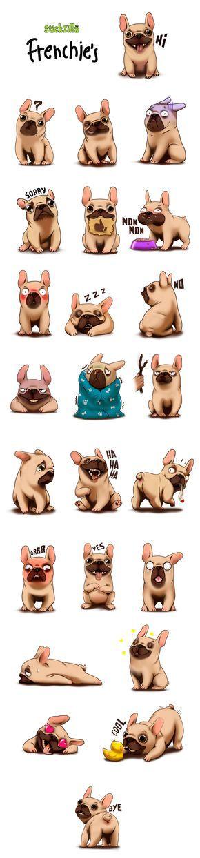 Beaucoup de bulldogues