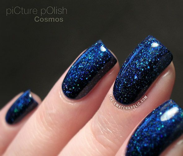 Nail Art Midnight Blue: PiCture POlish Cosmos – The Nail