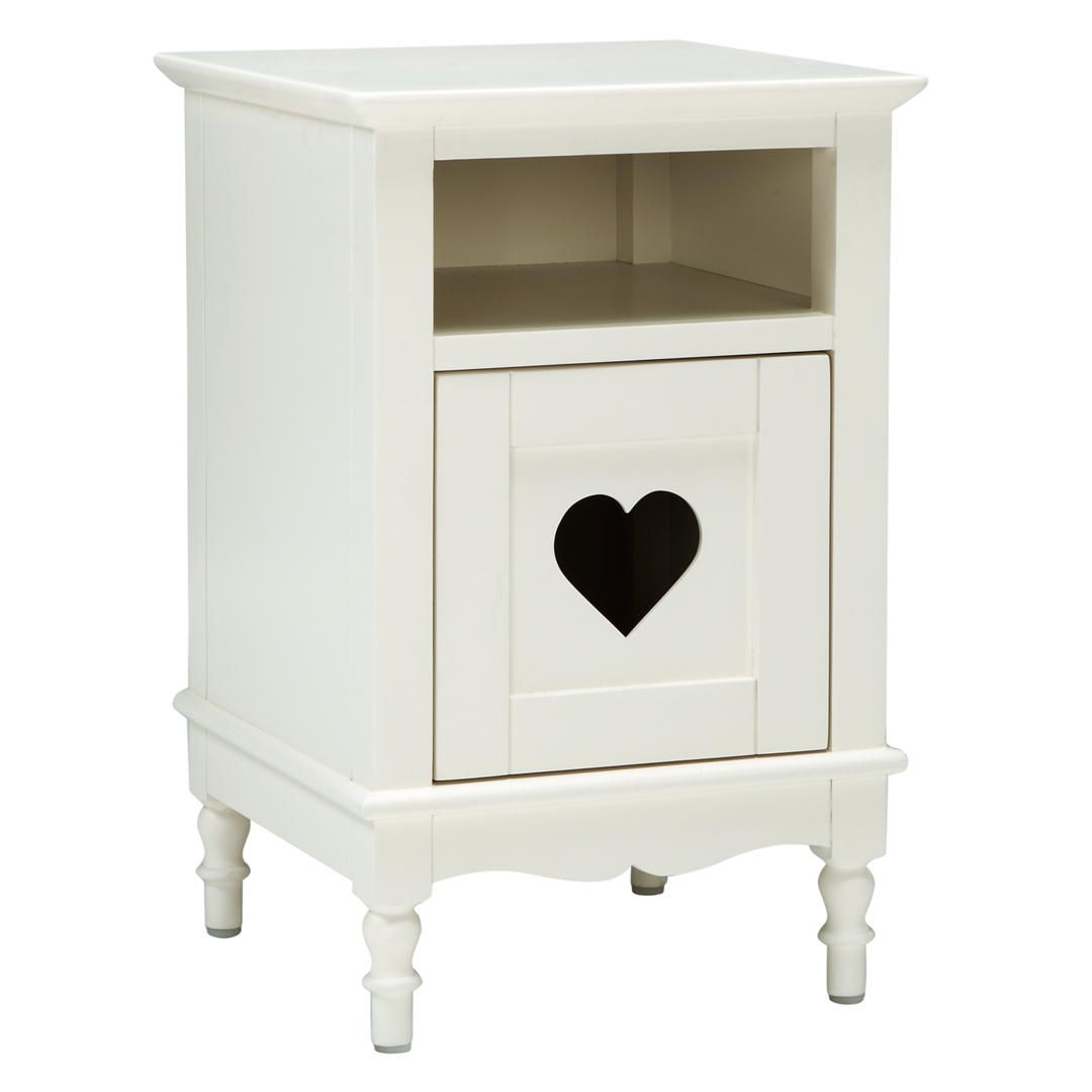 Little home at john lewis victoria bedside table white in