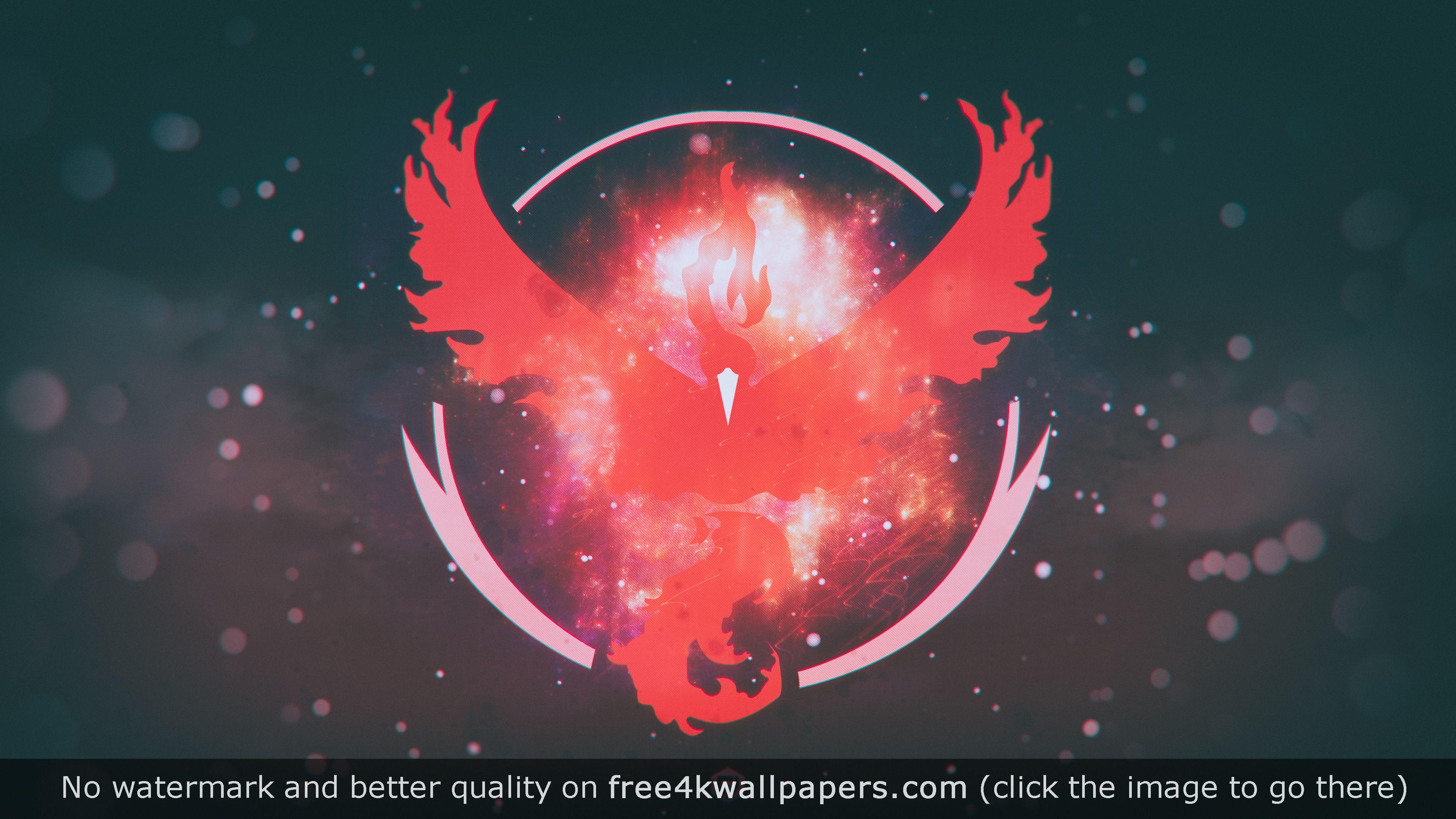 Pokemon Go Team Valor Team Red 4k 4k Wallpaper Desktop Wallpapers