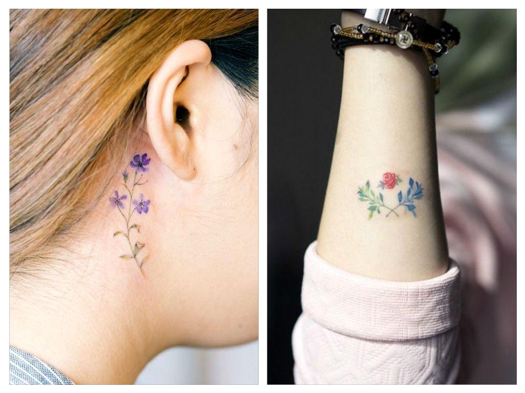 Delicati tatuaggi minimal coi fiori ispirati alla for Minimal significato