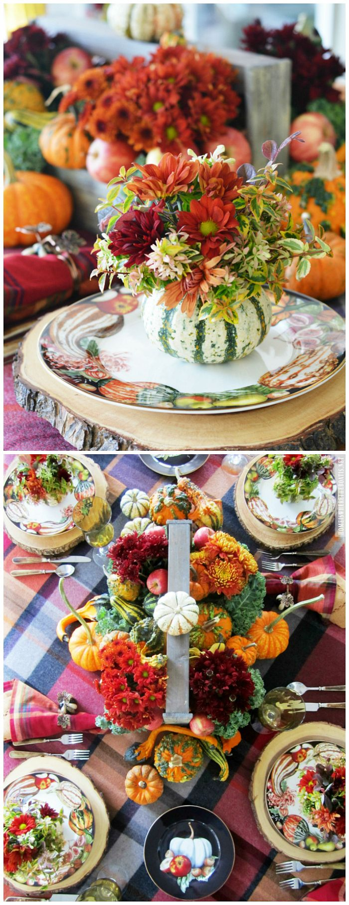 Floral Friday: Blooming Pumpkins and Harvest Pumpkin Table ...
