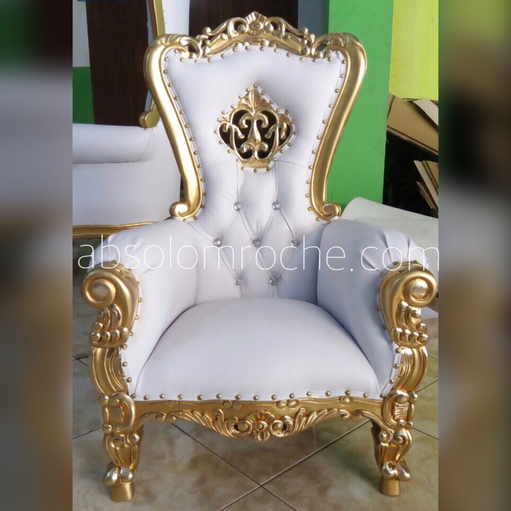 20 off preorder absolom roche marie antoinette crown chair gold