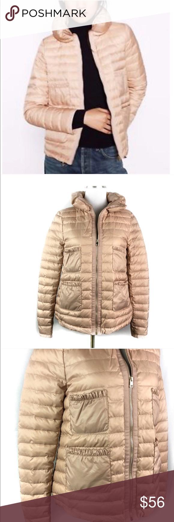 Zara Down Jacket Blush Pink Quilted Puffer Winter Pink Puffer Coat Zara Women Zara [ 1740 x 580 Pixel ]
