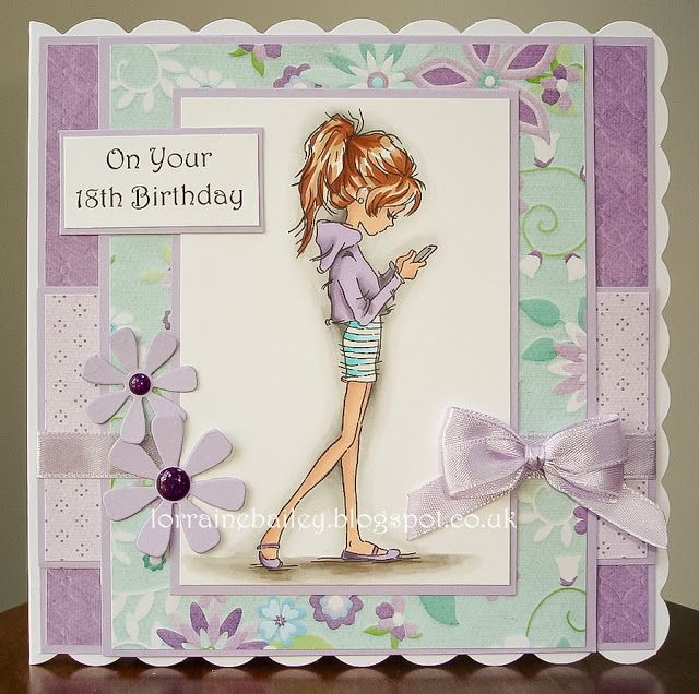 handmade birthday card from Mrs Bs Blog teen card super – 18th Birthday Cards for Girls