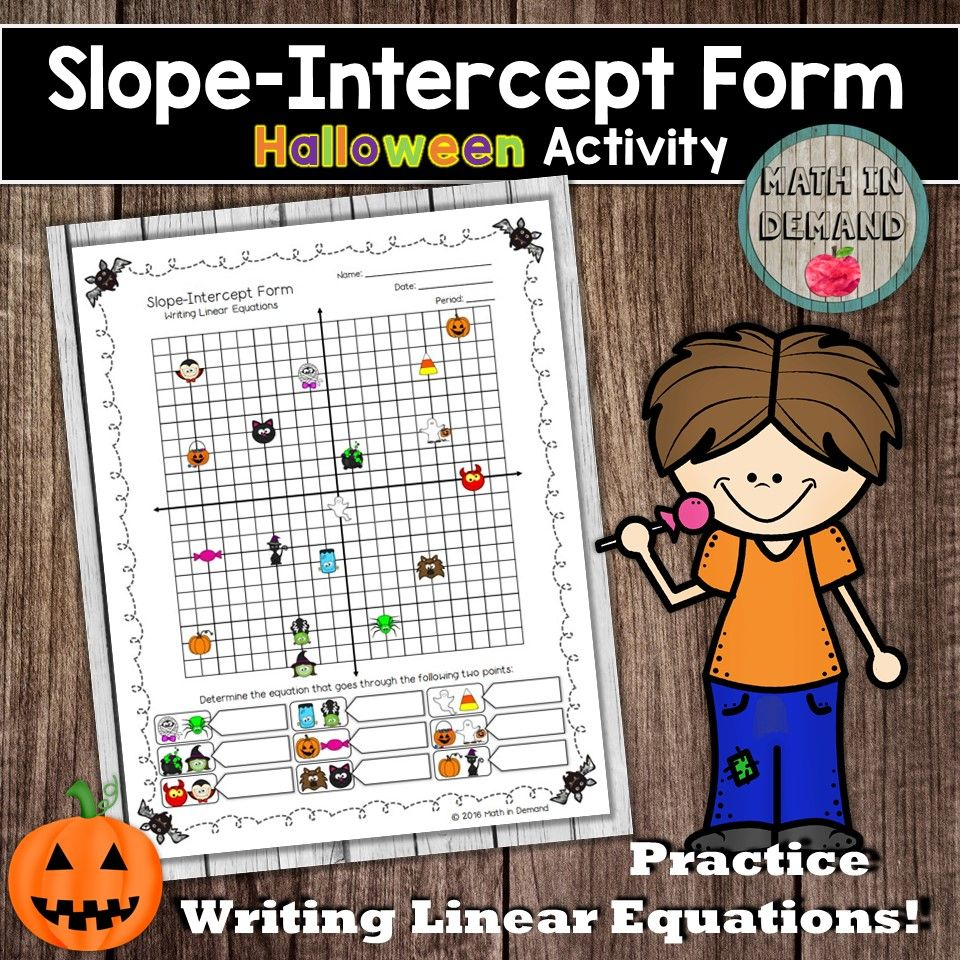 Slope Intercept Form Slope Intercept Form Writing Linear Equations
