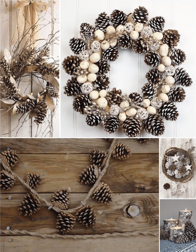 Photo of Ideas de Navidad con piñas de pino | Tarjetas Imprimibles Arte