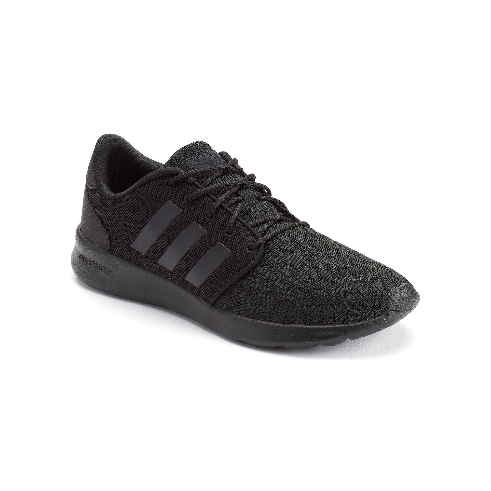 Adidas NEO Cloudfoam QT Racer Women\u0027s Lace Shoes, Size: 10, Black