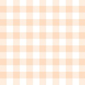 Colorful Fabrics Digitally Printed By Spoonflower Pale Peach And White 5 8 Gingham Check Peach Wallpaper Abstract Wallpaper Design Plaid Wallpaper