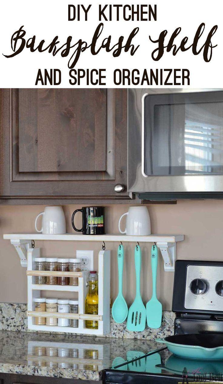 Kitchen Backsplash Shelf and Organizer | Especias cocina, Especias y ...