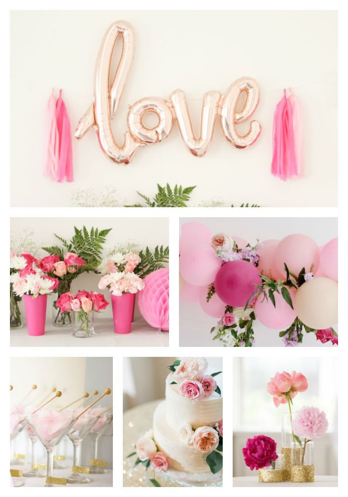 6c0bd7a4275b Rose Gold LOVE Letter Balloons-Rose Gold Banner