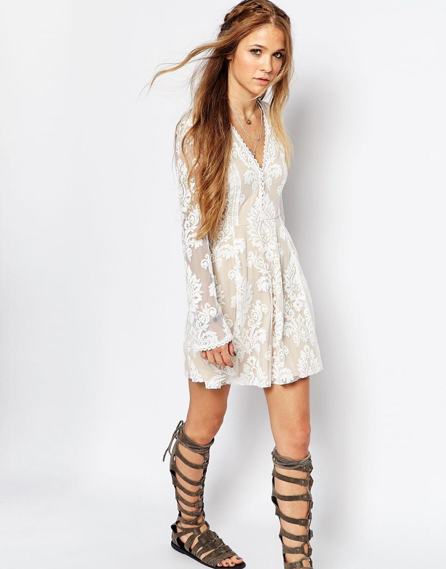 Image 4 of Honey Punch Lace Skater Dress | Outfits | Pinterest ...