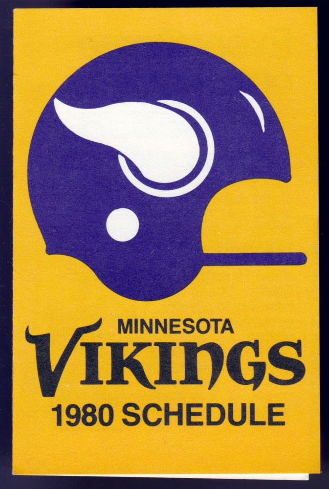 1980 Minnesota Vikings Twin City Federal Pocket Schedule