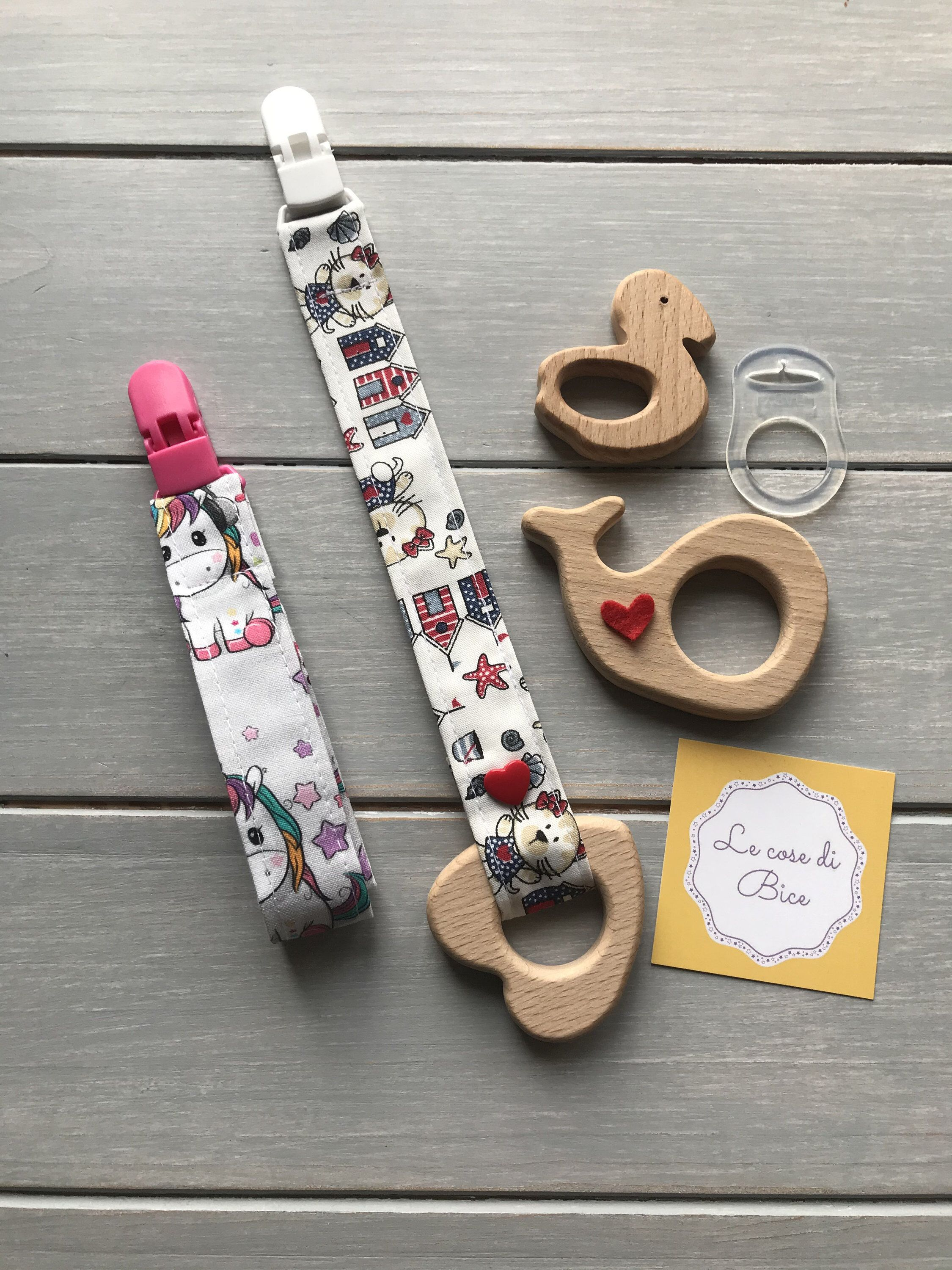 Pacifier chain in fabric, pacifier holder in cotton, …