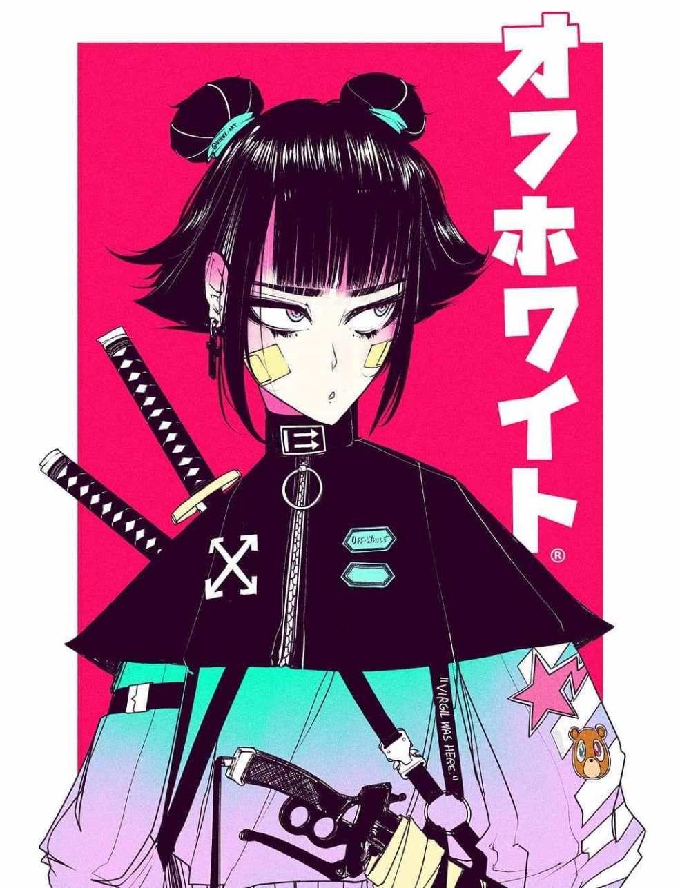 Cyberpunk Wonderland, a look at Vinne Anime, Samurai art