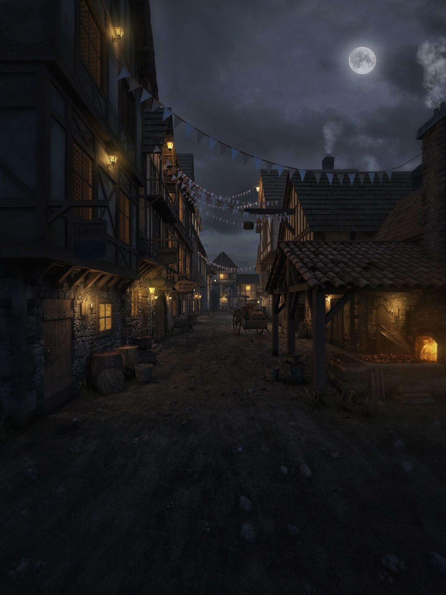 Medieval Village Joao Neto Fantasy Landscape Fantasy Village Fantasy Town