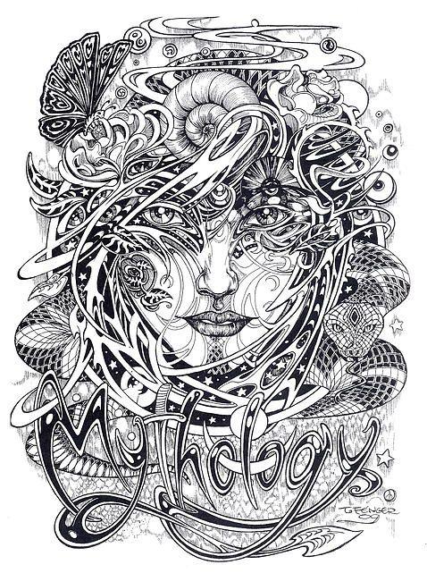 Original Drawings By Mythos