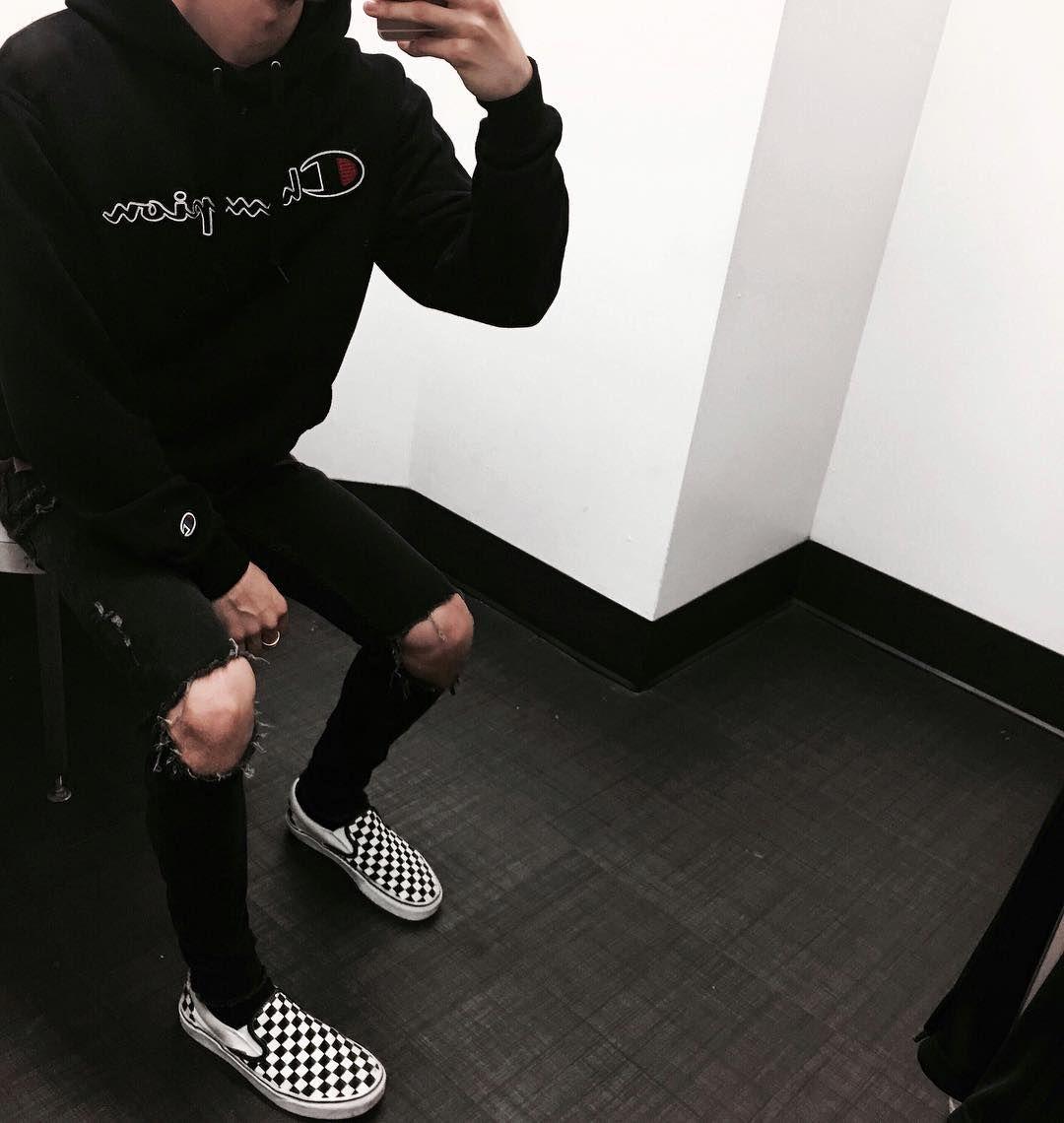 checkerboard vans instagram