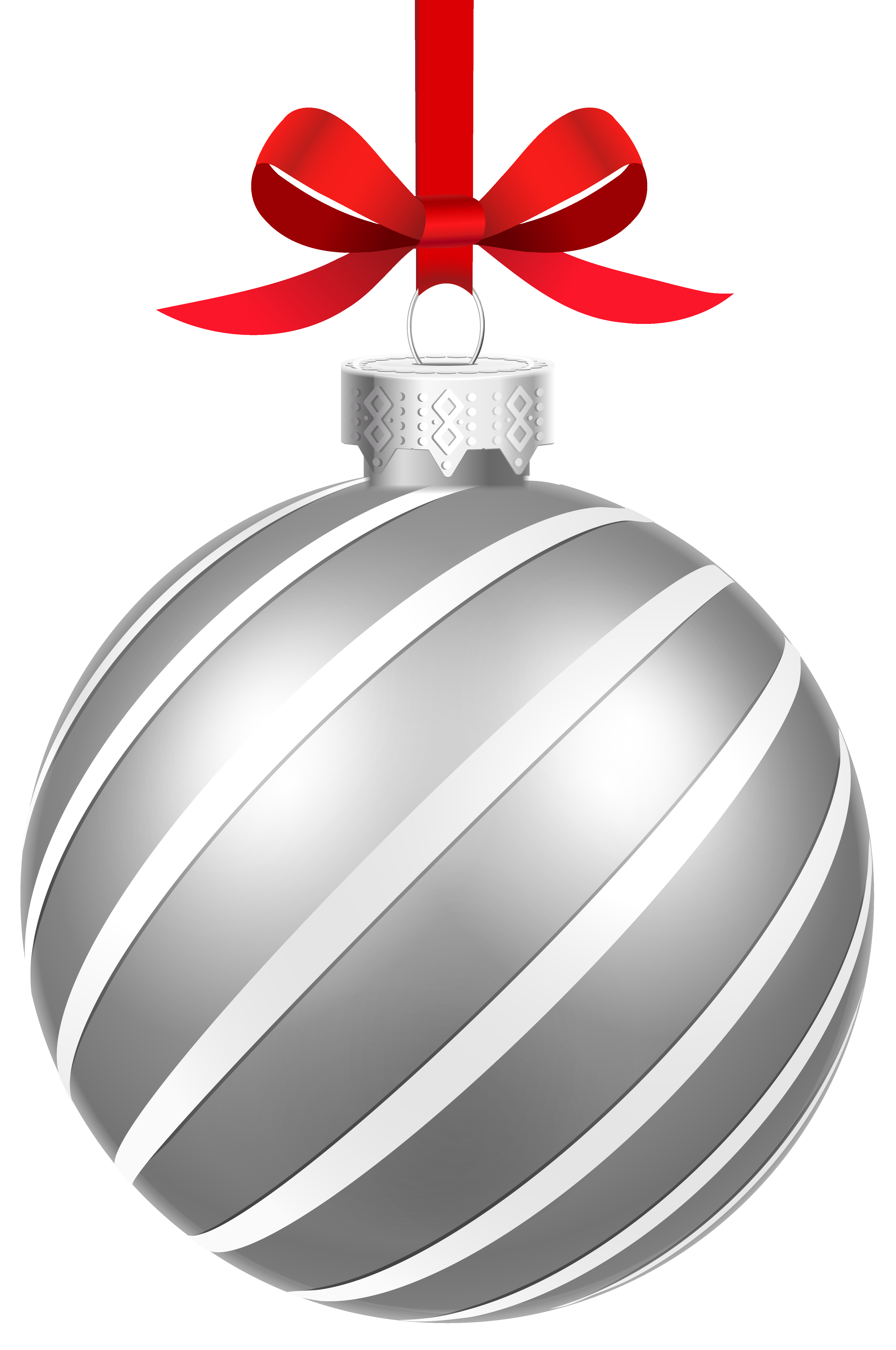 Free clipart christmas ornaments silver colored collection ...