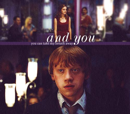 Hermione and Ron ♥...soooo frickin cute