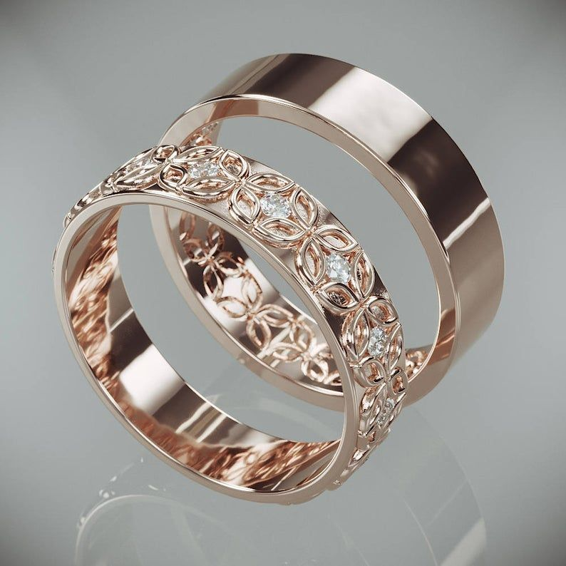 23+ Rose gold wedding band set his and hers ideas in 2021