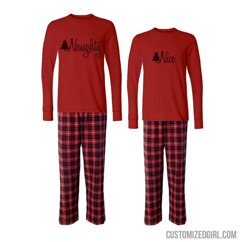 de5e18015 Matching Couple Xmas Pajamas Nice- Matching pajamas are the way to ...